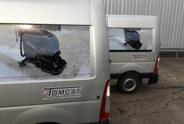 Tomcat schrobmachine bussen gesloten